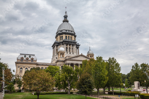 Illinois State House and Capitol Building in Springfield, IL Canvas Print
