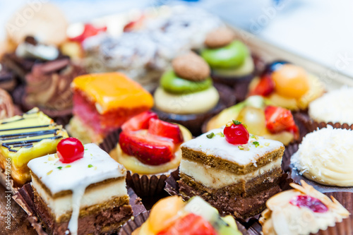 Confectionery tray close-up Wallpaper Mural