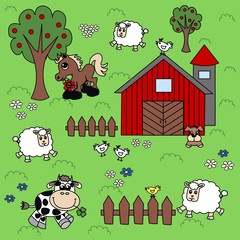 Plakat farm background pattern