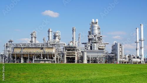 Obraz na plátně Refinery plant at Europort harbor, Rotterdam