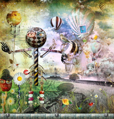 Printed kitchen splashbacks Imagination The secret kingdom series