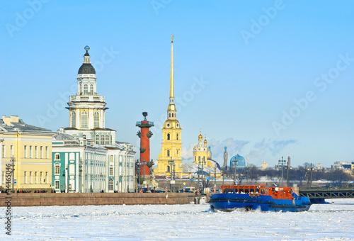Photo  Neva River. St. Petersburg, Russia