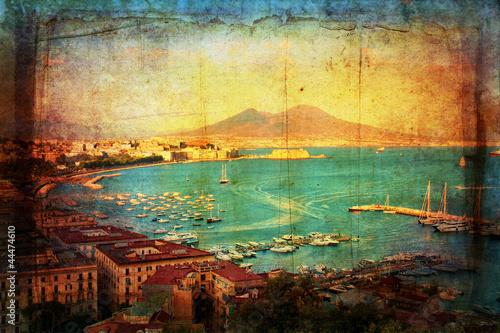 Garden Poster Napels Veduta del Golfo di Napoli