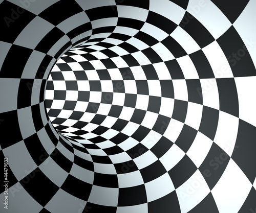 abstract-round-checkered-tunnel-background