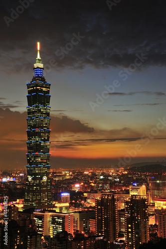 Taipei 101 Ntight Sights Canvas Print