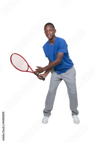 Photo  Black Teenager Playing Tennis