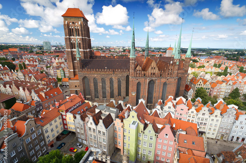 Fototapety, obrazy: St. Mary's Cathedral in old town of Gdansk, Poland