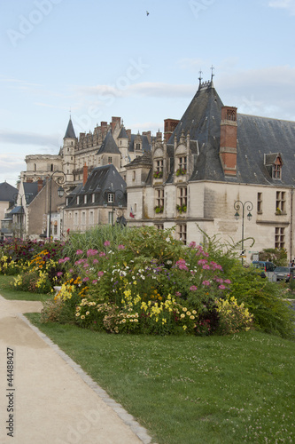 Foto op Plexiglas Artistiek mon. village and castle of Amboise