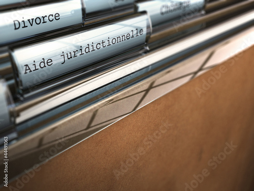 Fotografía  aide juridictionnelle, divorce