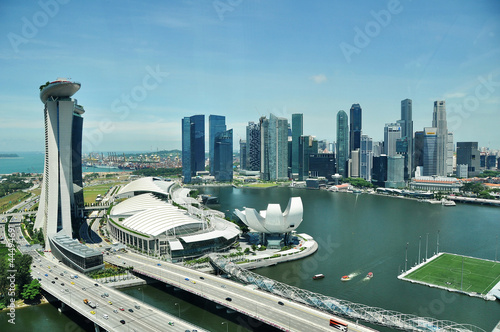 Spoed Foto op Canvas Singapore Singapore from the flyer