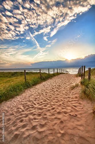 Valokuva  Hdr....North Sea at beautiful sunset.....Netherlands