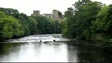River In Barnard Castle Uk
