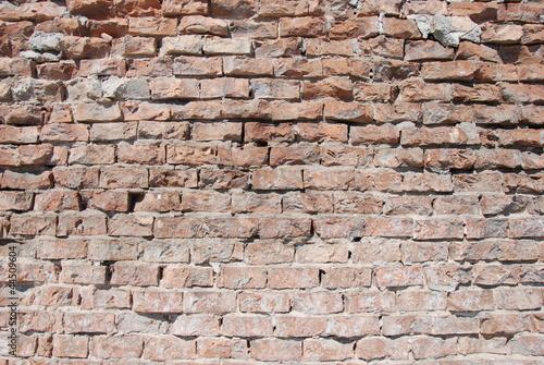 Fotografie, Obraz  wall-brick-plast-old
