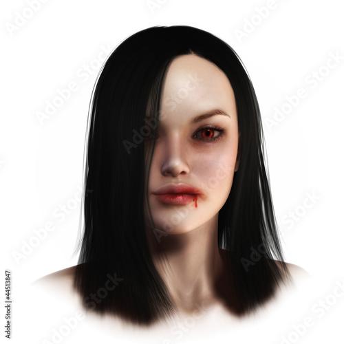 Fototapeten womenART Fantasy Face Vamp