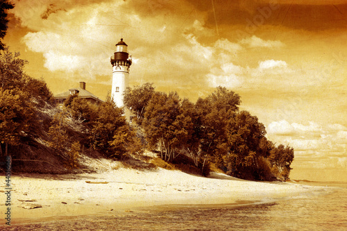 Old Picture Design - Lighthouse