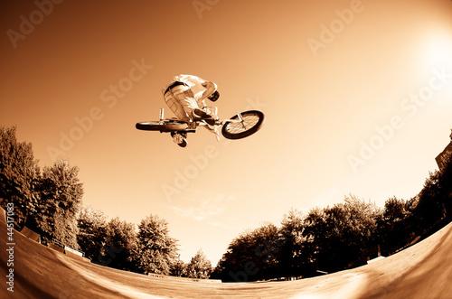 High BMX jump