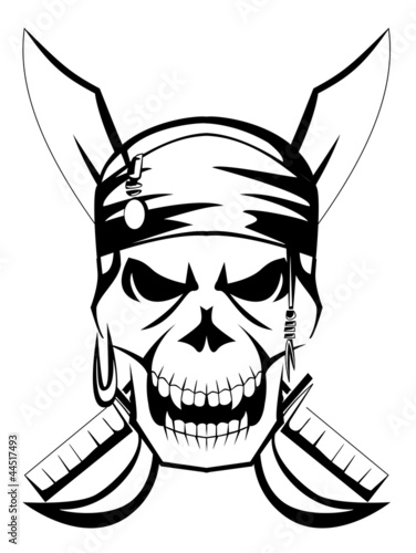 Photo  pirate skull sword