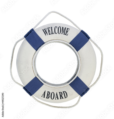 Photo Welcome Aboard Life Preserver