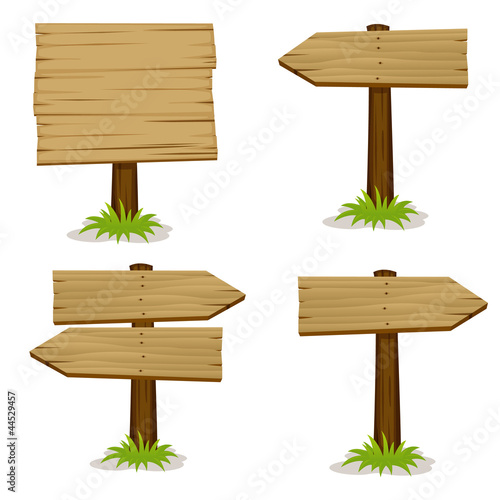 Obraz Wooden signs set - fototapety do salonu