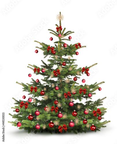 Papiers peints Azalea Weihnachtsbaum mit Rotem Christbaumschmuck