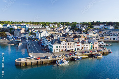 Top view of the main street of La Palais the island - Belle Ile Wallpaper Mural