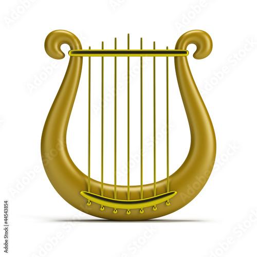 golden harp Fototapet