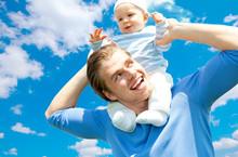 Freude Papa Und Sohn