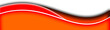 canvas print picture - orange and red swoosh