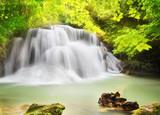 Second level of Huai Mae Kamin Waterfall i