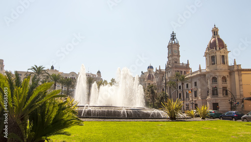 Square of the town hall in Valencia, Spain