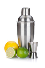 Cocktail Shaker With Measuring...