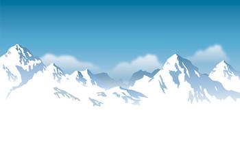 Panel Szklany Góry snowcapped mountains - background