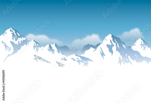 Photo  snowcapped mountains - background