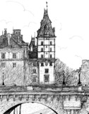 Pont Neuf w Paryżu - 44597860