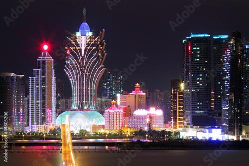 Tuinposter Tokio Macau at night