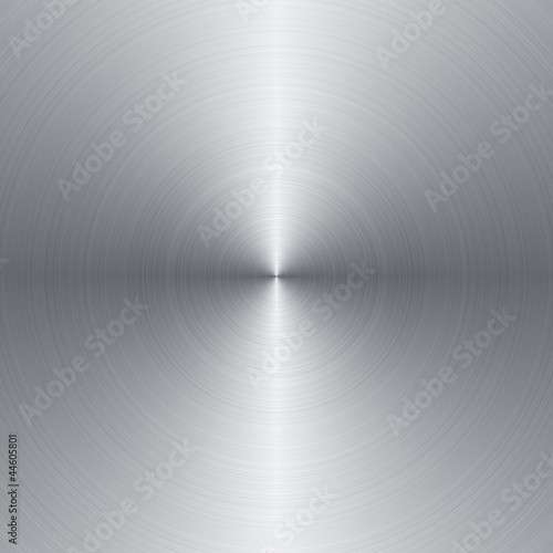 Radial brushed metal background with copy space