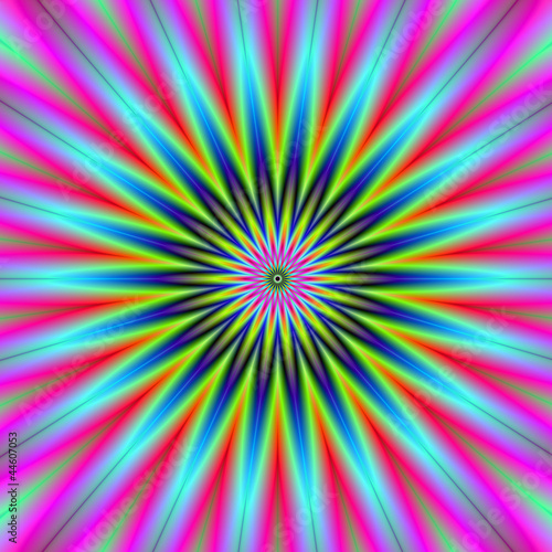 Photo sur Aluminium Psychedelique Star Flower