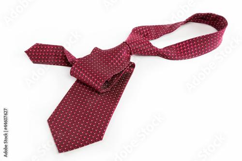 Luxury tie on white background Poster Mural XXL