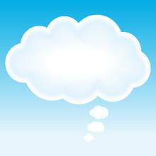 Beautiful Cloud. Idea Concept Background.