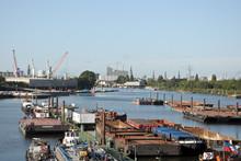Schuten Im Hamburger Hafen