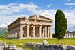 canvas print picture - Paestum Tempelanlage
