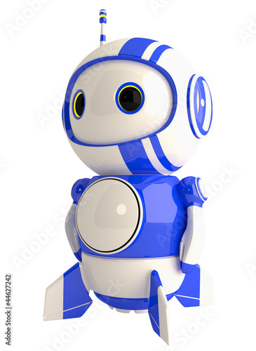 Fotografia, Obraz  Cute Blue Robot