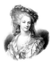 Beauty : Aristocratic Woman - 18th Century - Lamballe