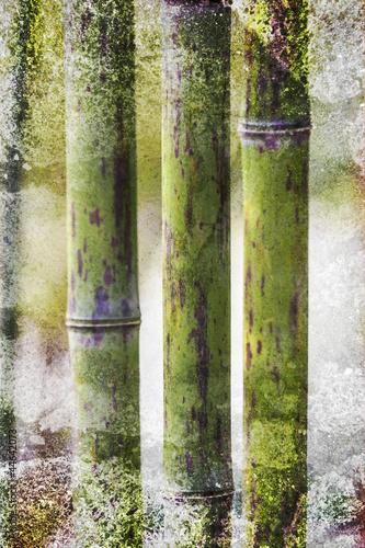 Akustikstoff - Grunge Bamboo backdrop (von styleuneed)