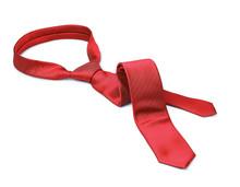 Red Tie Taken Off