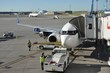 Airplane with Loading Dock Attached