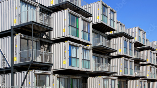 Fotografie, Obraz Hostel for students from containers. Le Havre, France.