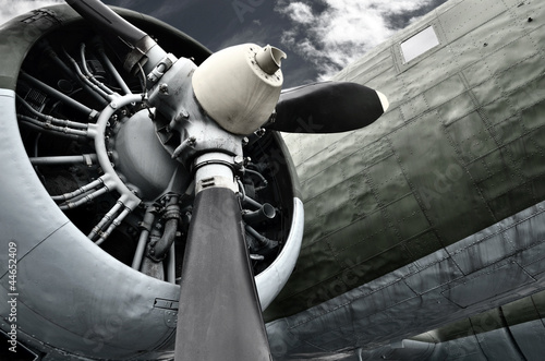 Fotografia Old aircraft close up