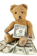 Teddy Bear With Dollar Bills