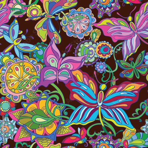 bez-szwu-tla-latajacy-motyl-i-wrozka-kwiaty